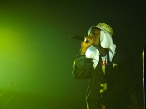 Joey Bada$$ performs to a full crowd at Ritchie during Attack of the Backpack