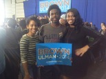 Members of the Black Student Union and NAACP at the rally