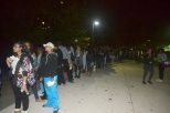 After the sale was moved outside of ERC, a long line formed outside