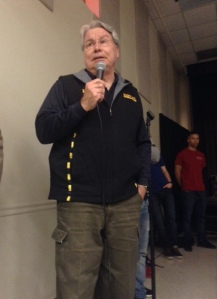 Chief Mitchell addresses student's concerns at town hall meeting regarding demilitarization of weapons (Jessie Karangu/Pulsefeedz)