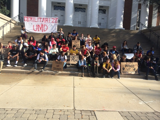 Students Protest UMPD's New Weapons (Pictures and Video)