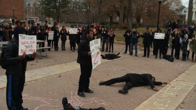 "Salisbury University joins ""Black Lives Matter"" Protest (pictures & video)"