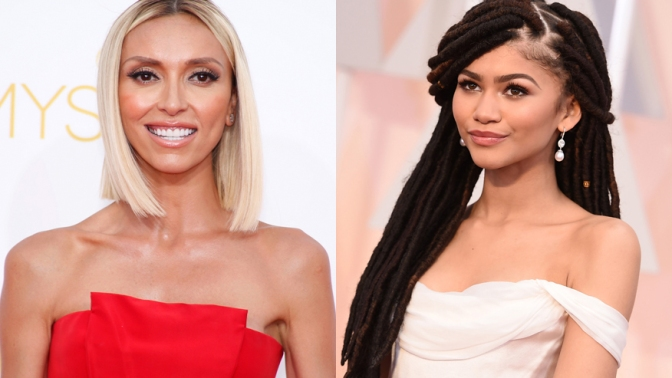 """Fashion Police"" host Giuliana Rancic (left) and Disney star Zendaya."