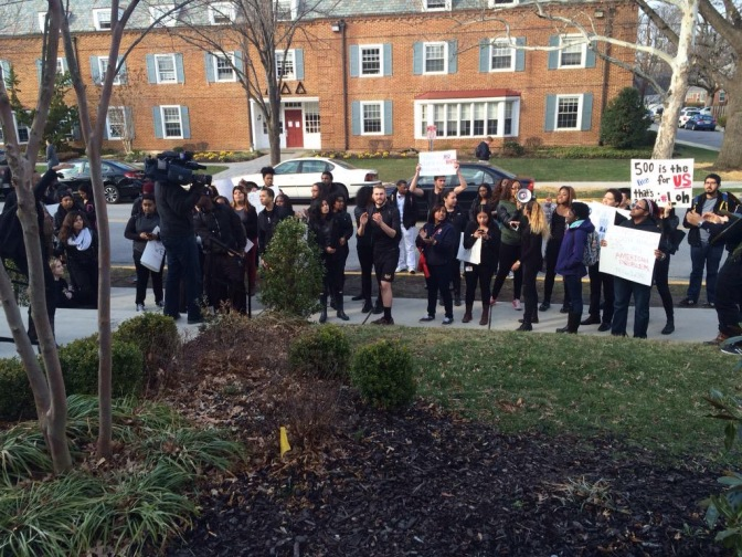 UMD Students gather for #OccupyFratRow Movement
