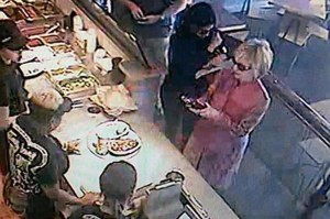 Hillary Clinton spotted inside Chipotle restaurant.