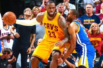LeBron James backing down Iguodala, courtesy of Bleacher Report