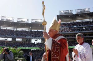 Pope Benedict XVI celebrating Mass at Washington National's Stadium in 2008 Courtesy of Associated Press