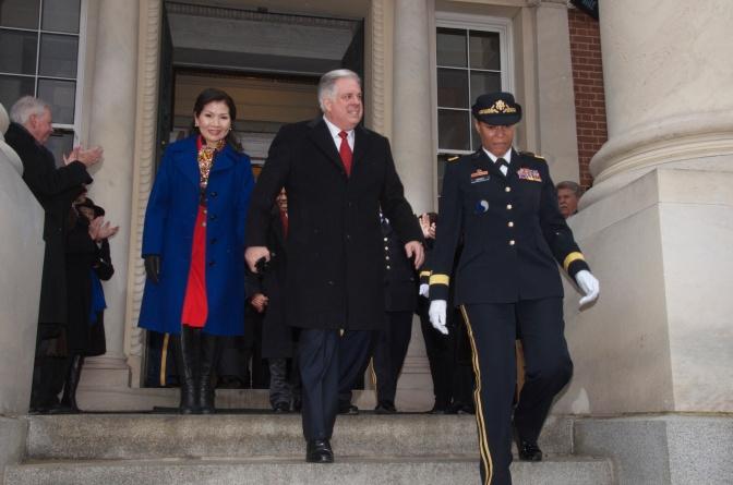 Poll shows Republican Gov. Larry Hogan popular in deep-blue Maryland