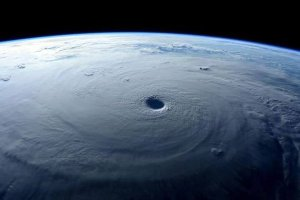 Courtesy of NASA. Hurricane Patricia from space.