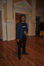 Co-host Curtis Dinkins before the show began. Mya Green/Pulsefeedz Nov. 3