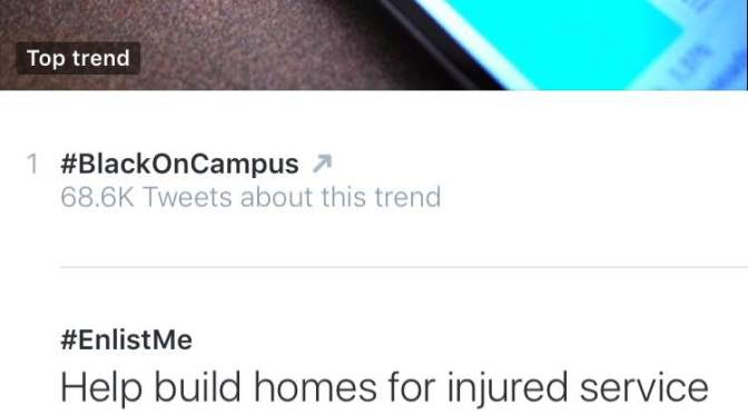 #BlackOnCampus Hashtag Takes Twitter By Storm