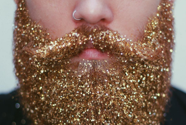 Glitter Beards Flood Instagram as Latest Man Trend
