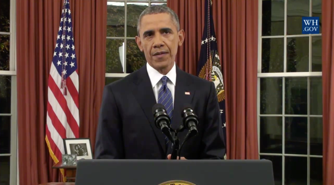 President Obama discusses terrorism in Oval Office address